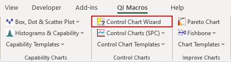 control chart wizard