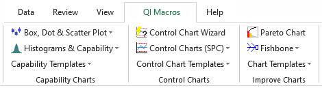 qi macros menu in excel