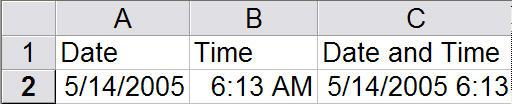 Excel short cuts to record date and time