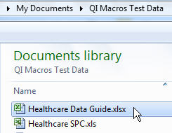 Health Care Data Guide Data in QIMacros
