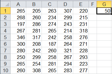 count function example in Excel