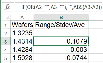 example of range calculation