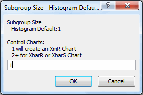 subgroup si8ze prompt for histogram