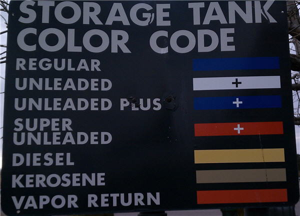 Gas Station Color Code