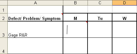 Excel Checksheet with stroke tally