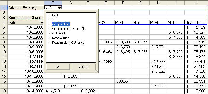 pivot table page fields in Excel