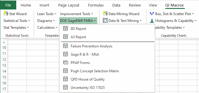 Quality Function Deployment In Excel Excel Qfd Template
